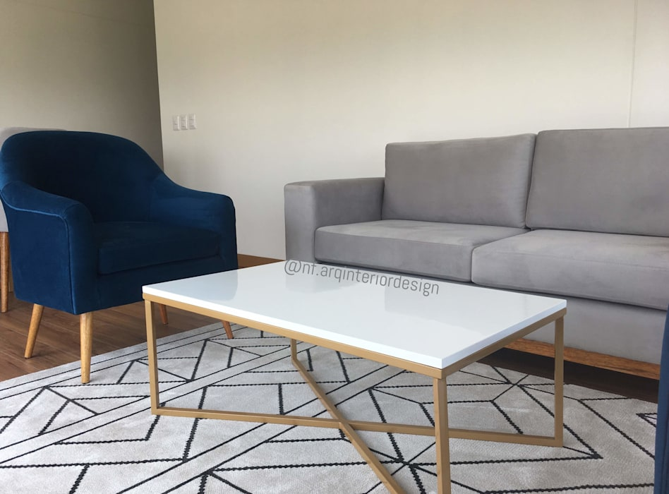 Implementación Sala Salas modernas de NF Diseño de Interiores Moderno