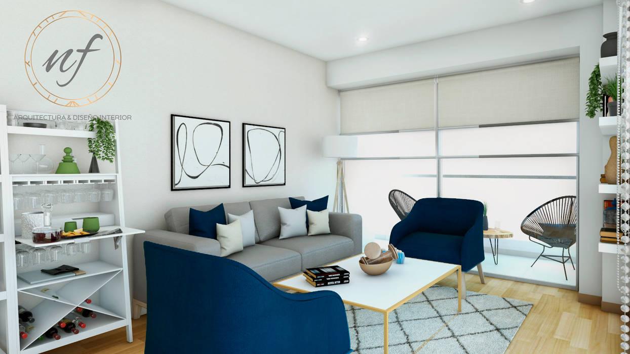 Propuesta de Sala NF Diseño de Interiores Salas modernas