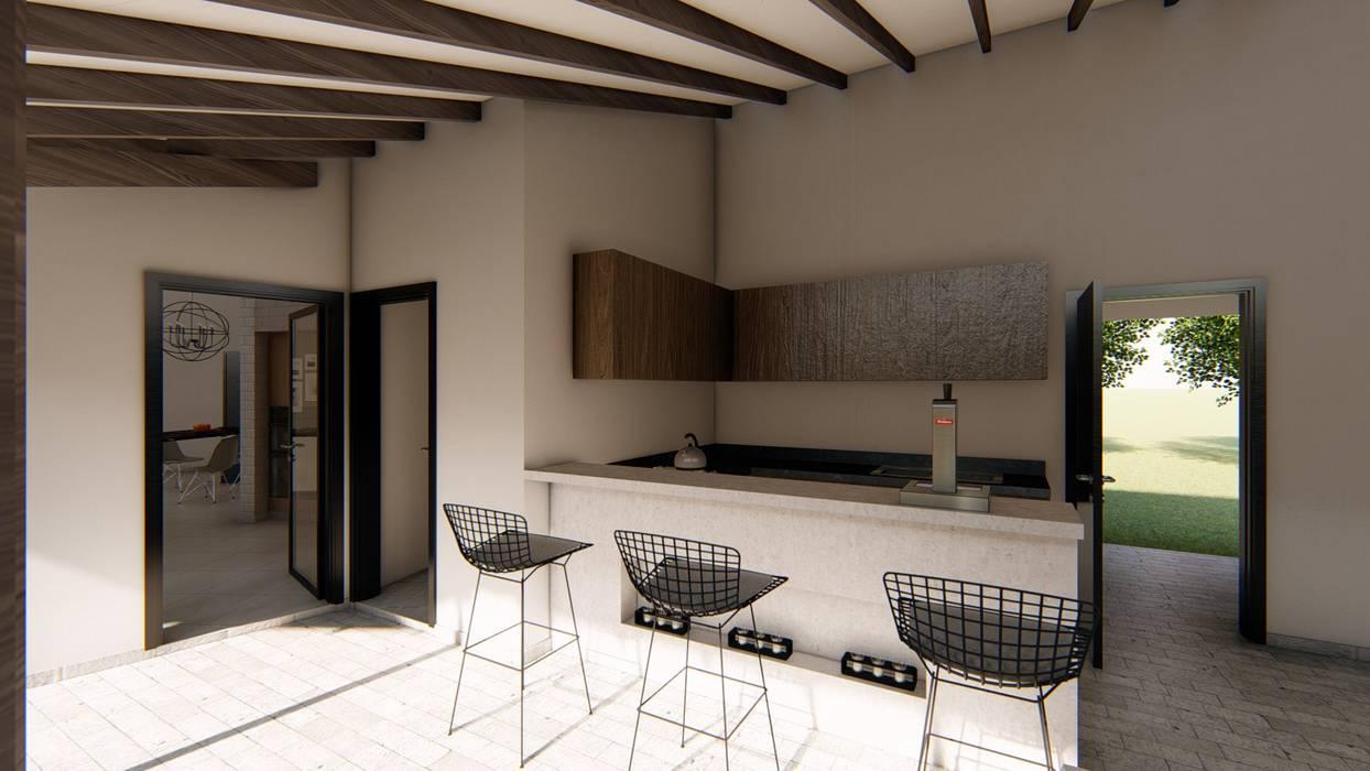 Casa SMC: Cocinas a medida  de estilo  por Luis Barberis Arquitectos