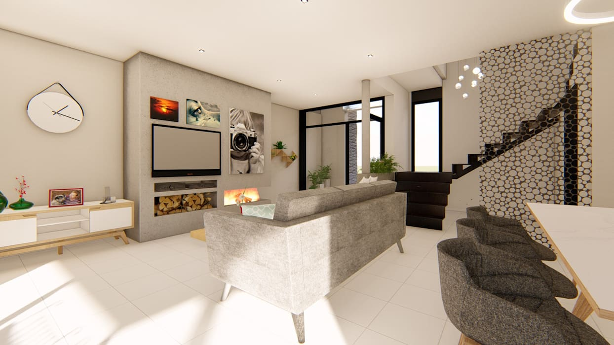 Living room by Luis Barberis Arquitectos, Minimalist