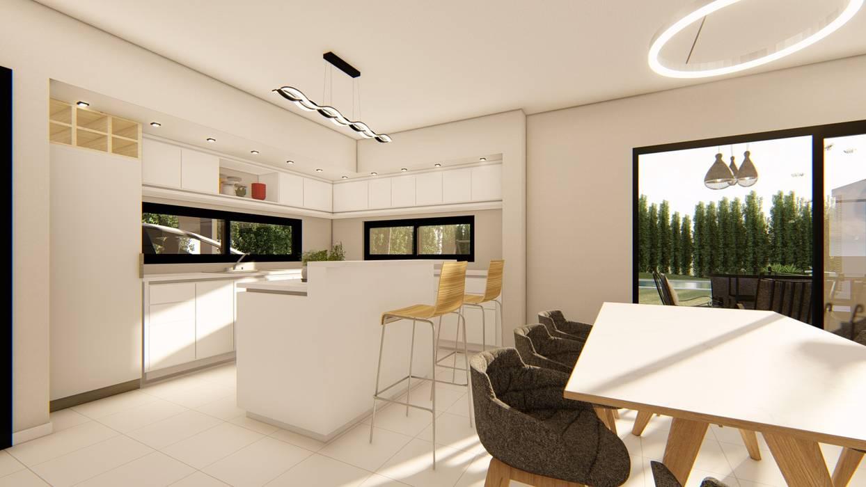 Casa MPME Luis Barberis Arquitectos Cocinas a medida