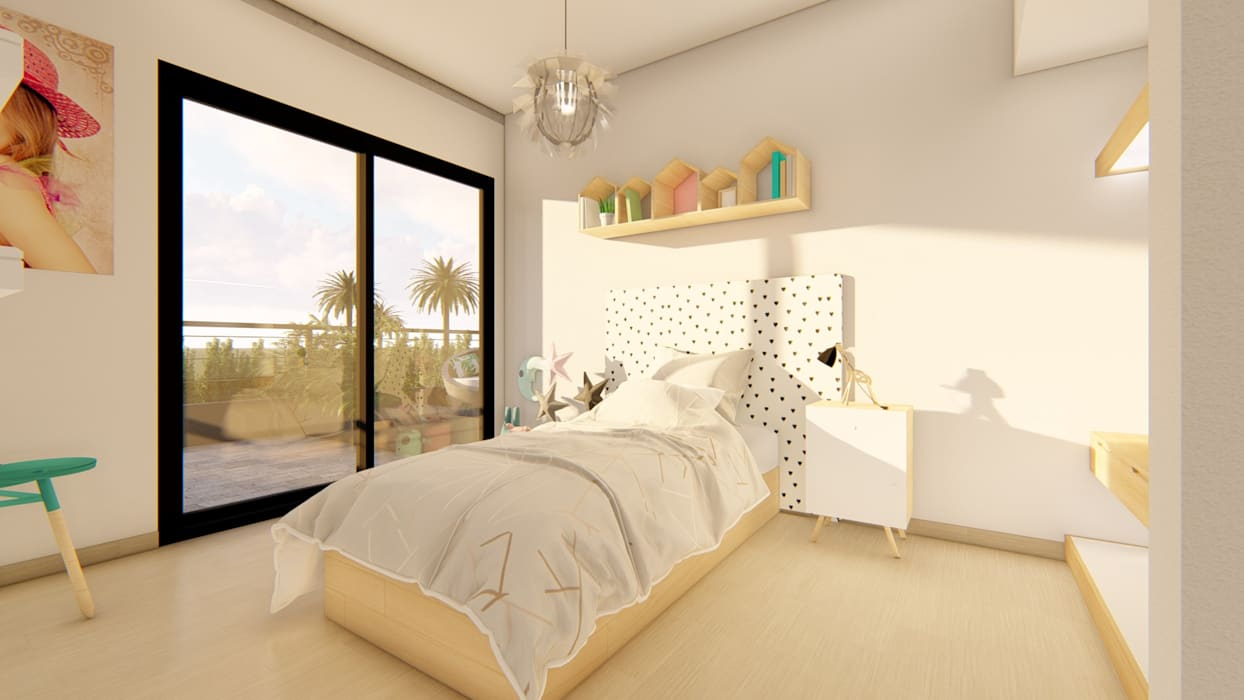 Girls Bedroom by Luis Barberis Arquitectos, Minimalist