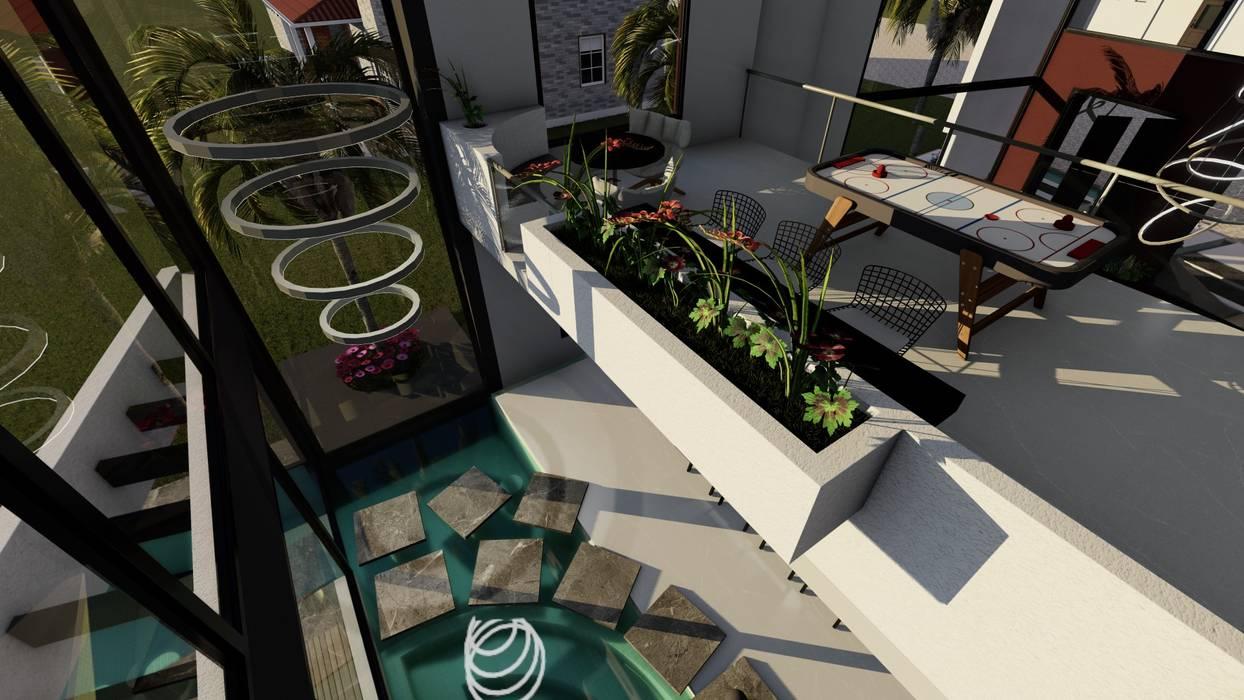Casa FACT: Balcón de estilo  por Luis Barberis Arquitectos