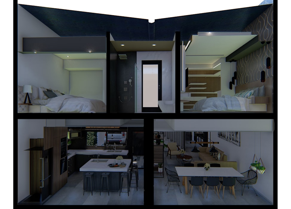 Luis Barberis Arquitectos의  일세대용 주택