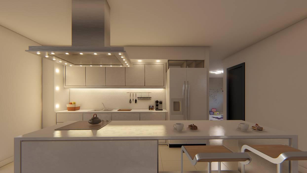 Kitchen by Luis Barberis Arquitectos,