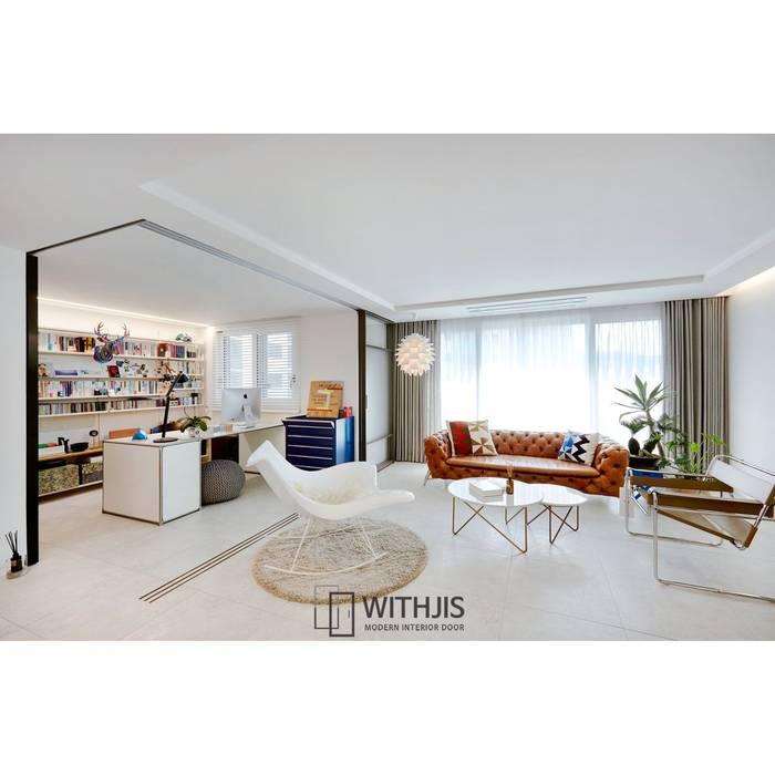 Puertas interiores de estilo  por WITHJIS(위드지스)