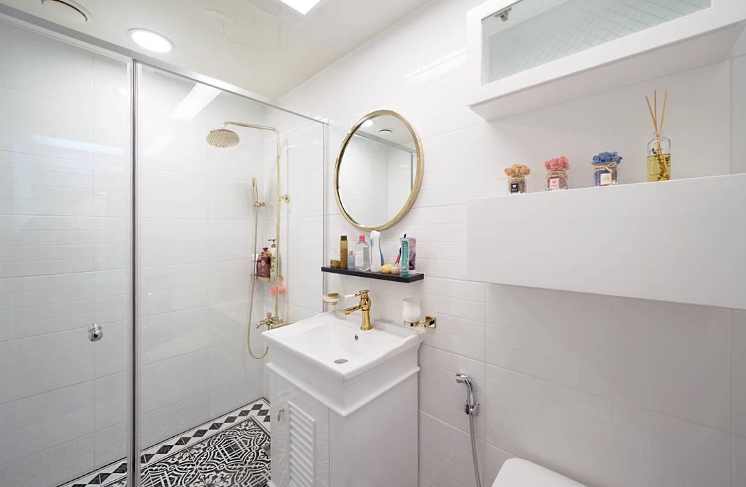 컬러풀 뉴트로하우스 모던스타일 욕실 by 디자인 아버 모던