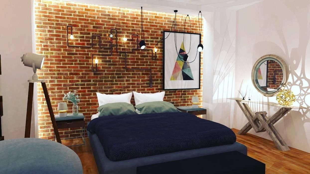 Maayish Architects SchlafzimmerBetten und Kopfteile Rot