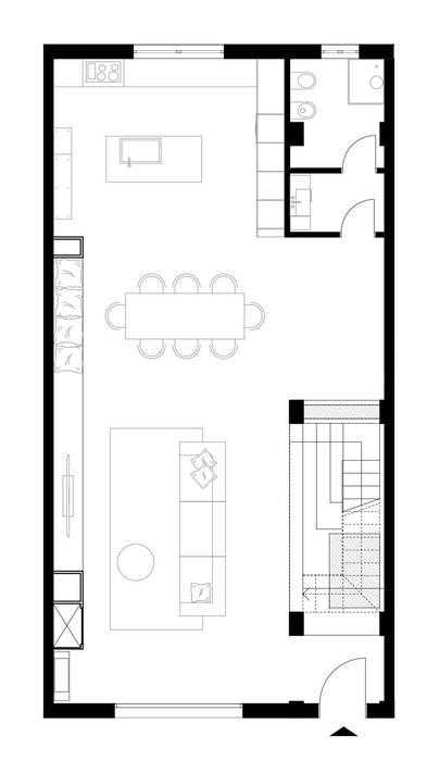 Ristrutturazione Appartamento Privato: Tetto in stile  di 3bcuboarchitetti