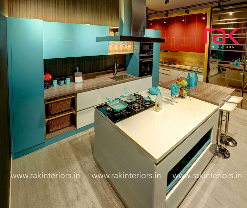 Kitchen interior RAK Interiors KitchenBench tops Plywood