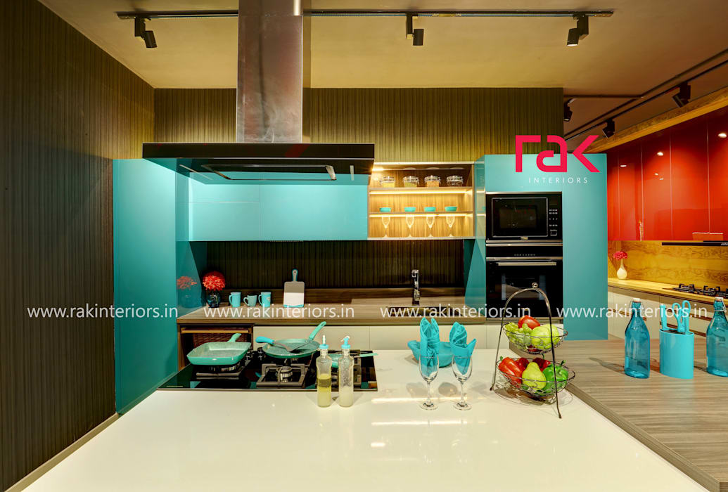Kitchen interior RAK Interiors KitchenCabinets & shelves Plywood