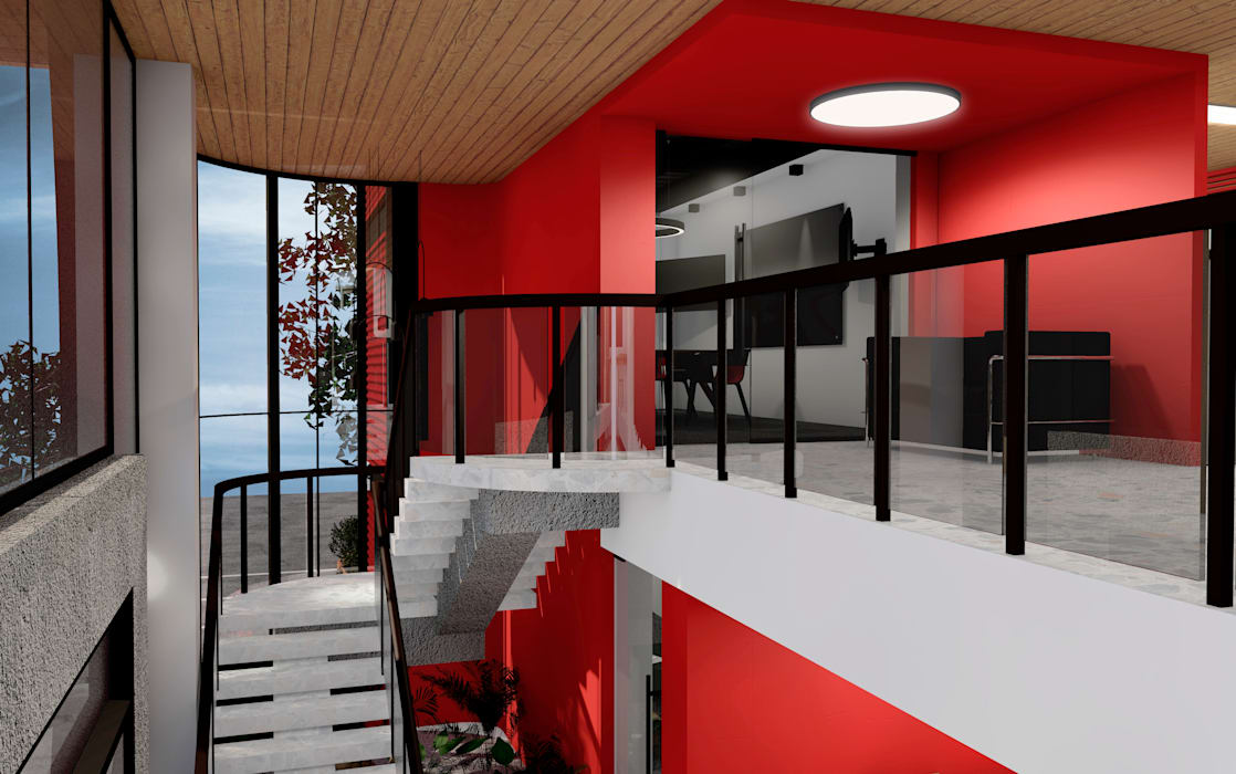 Modern offices & stores by BICHO arquitectura Modern Metal