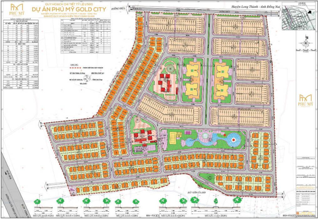Mặt bằng phân lô dự án Phú Mỹ Gold City:  Sàn by Bán đất nền Đồng Nai