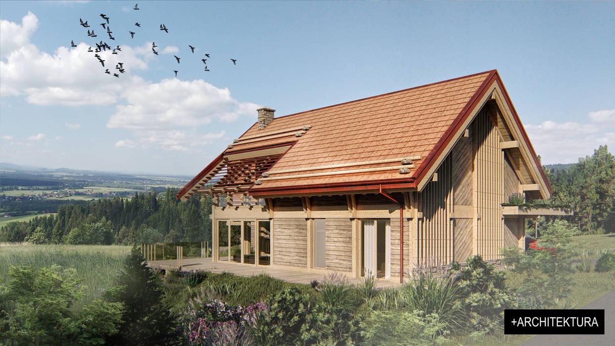 Casas unifamiliares de estilo  por Pracownia Projektowa '+ARCHITEKTURA' mgr inż. arch. Maciej Kubicki