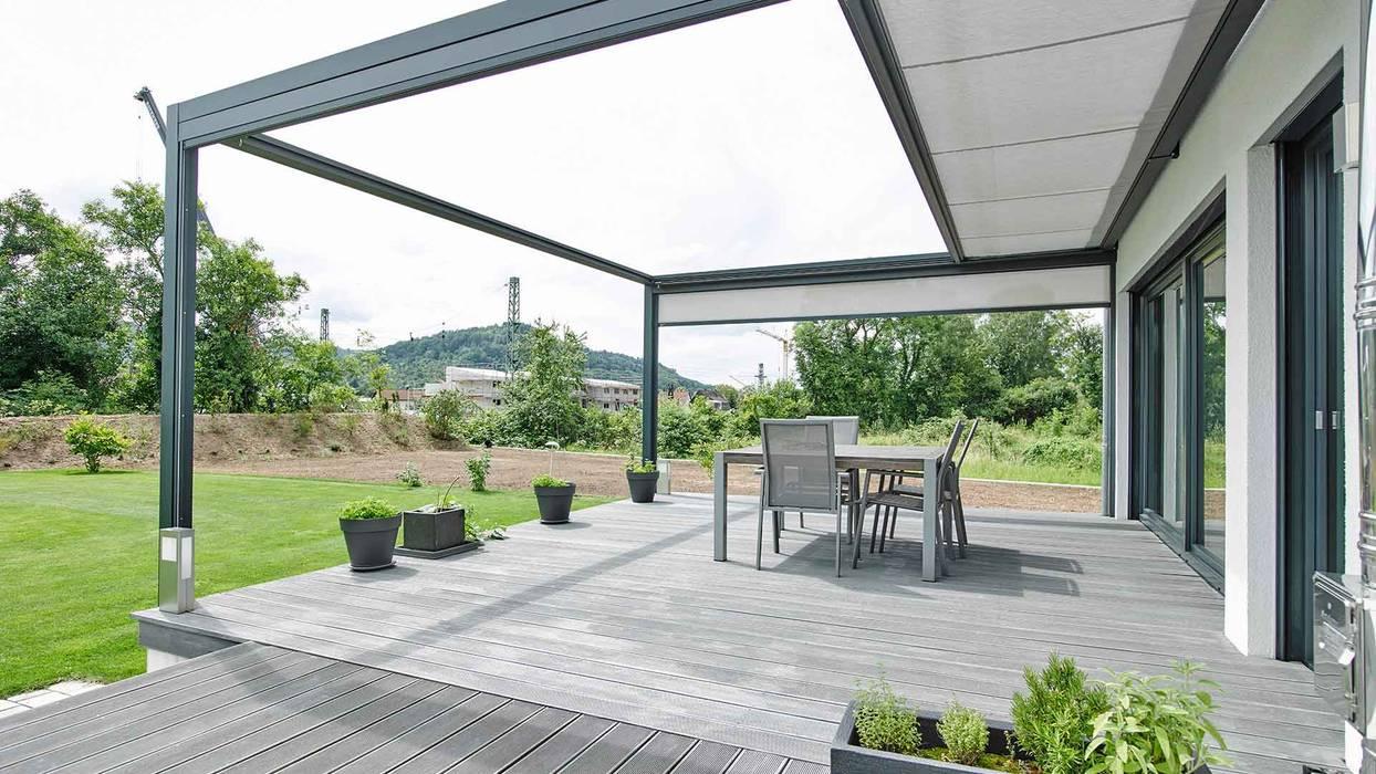 Markise für große terrassen moderner balkon, veranda ...