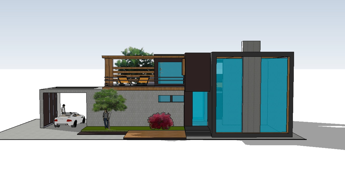 by MEF Architect Modern Concrete