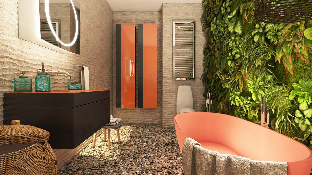 Ванная комната: Ванные комнаты в . Автор – Irina Yakushina, Тропический