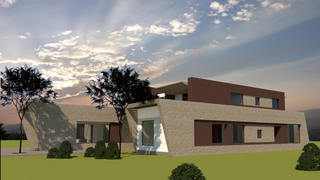 Habitaciones y Zona Social de diseño con estilo ... sas Moderno