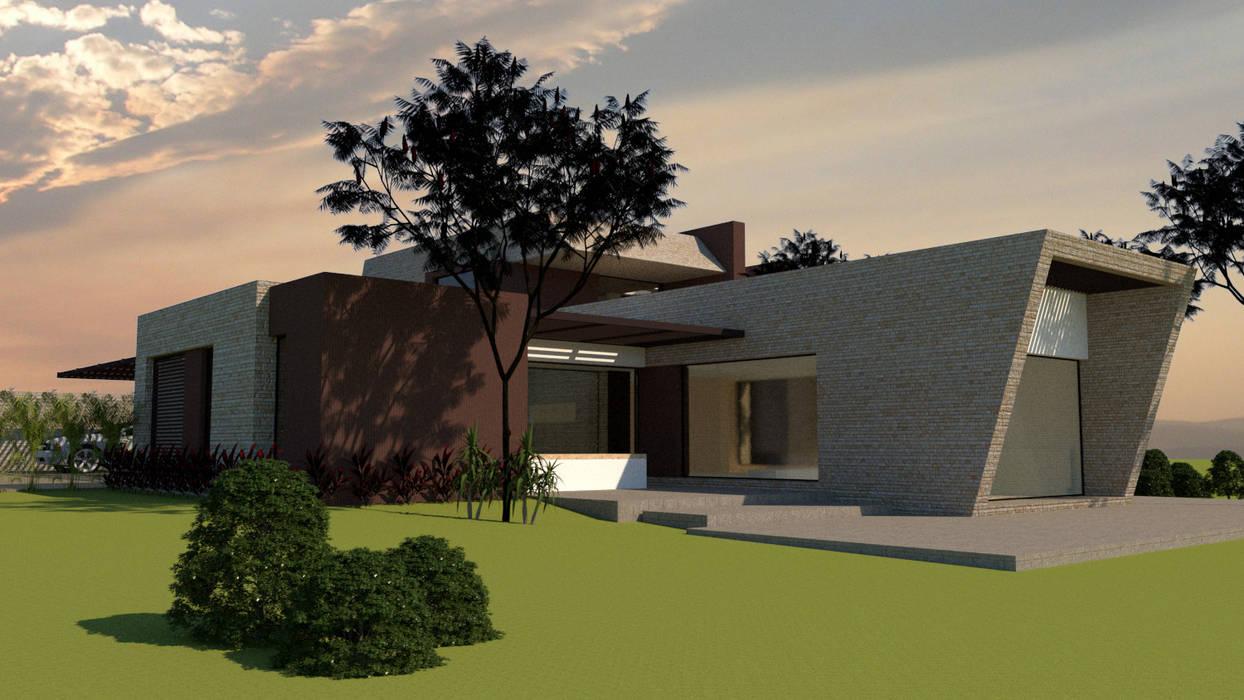 Zona Social y de Servicios: Casas unifamiliares de estilo  por diseño con estilo ... sas