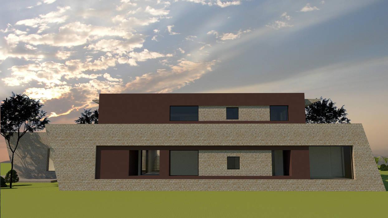 Fachada: Casas unifamiliares de estilo  por diseño con estilo ... sas,