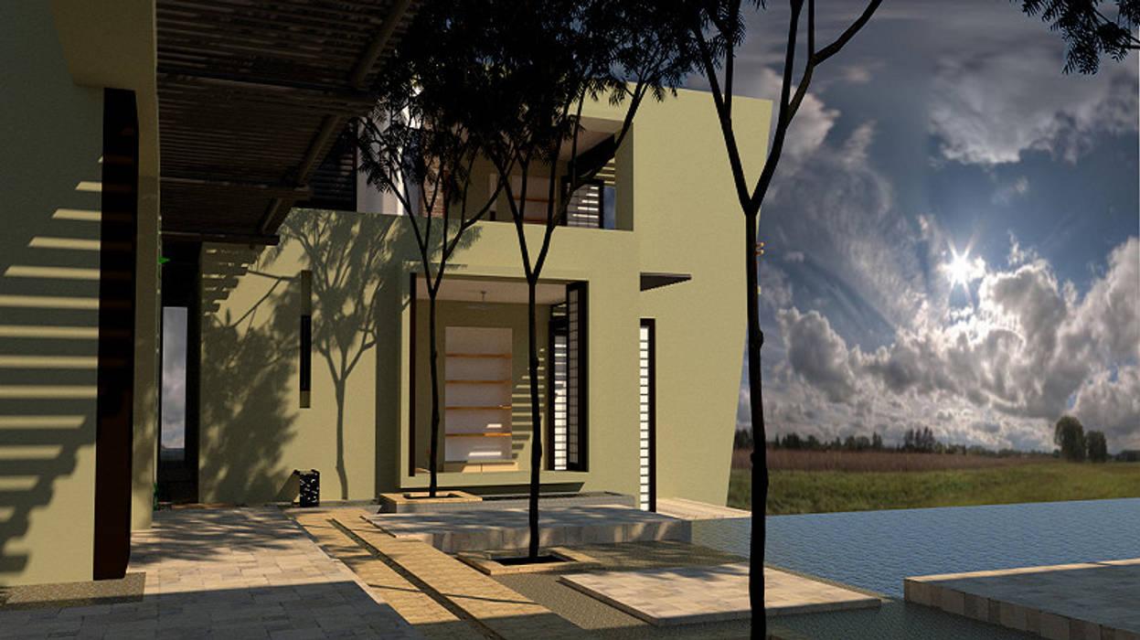 Habitaciones.: Casas unifamiliares de estilo  por diseño con estilo ... sas,