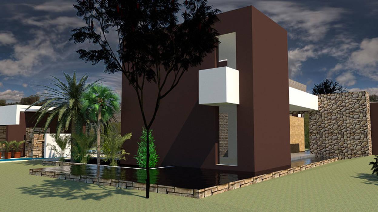Zona Interactiva: Casas unifamiliares de estilo  por diseño con estilo ... sas