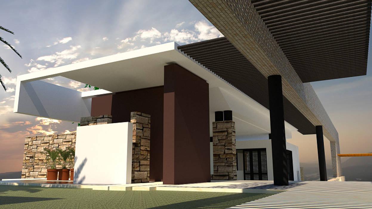 Acceso: Casas unifamiliares de estilo  por diseño con estilo ... sas