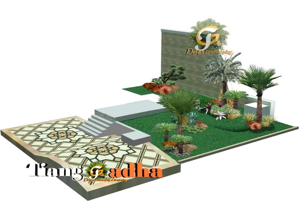 Arsitek Taman Surabaya || Taman Teras Depan:  Halaman depan by Tukang Taman Surabaya - Tianggadha-art