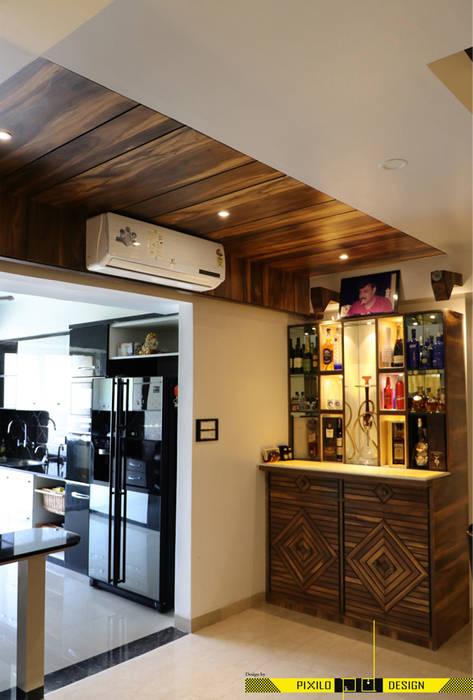 Chugh's Residence:  Wine cellar by Pixilo Design,Modern