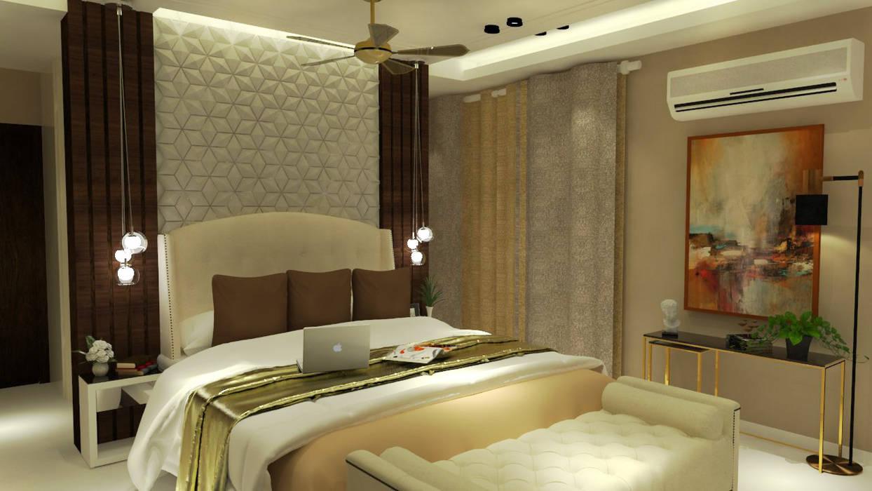 Daughter's Bedroom:  Bedroom by Inaraa Designs,Modern
