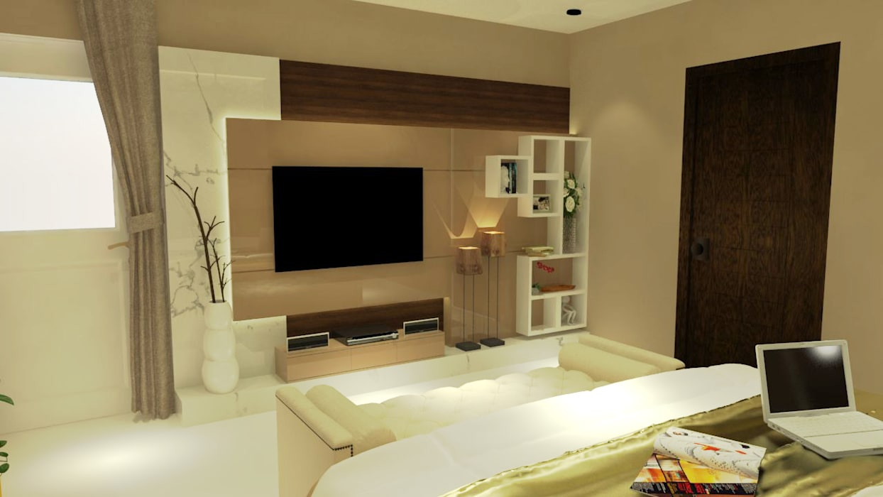 T.V. Console:  Bedroom by Inaraa Designs