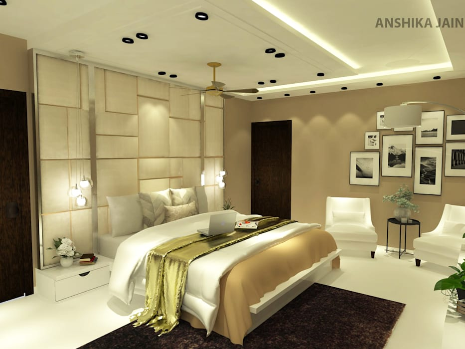 Bedroom design Modern style bedroom by Inaraa Designs Modern