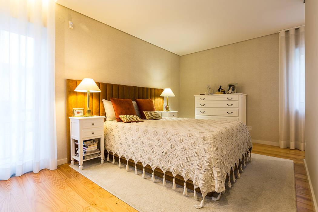 Quarto - Casa Vilarinha (Porto) - SHI Studio Interior Design por SHI Studio, Sheila Moura Azevedo Interior Design Moderno