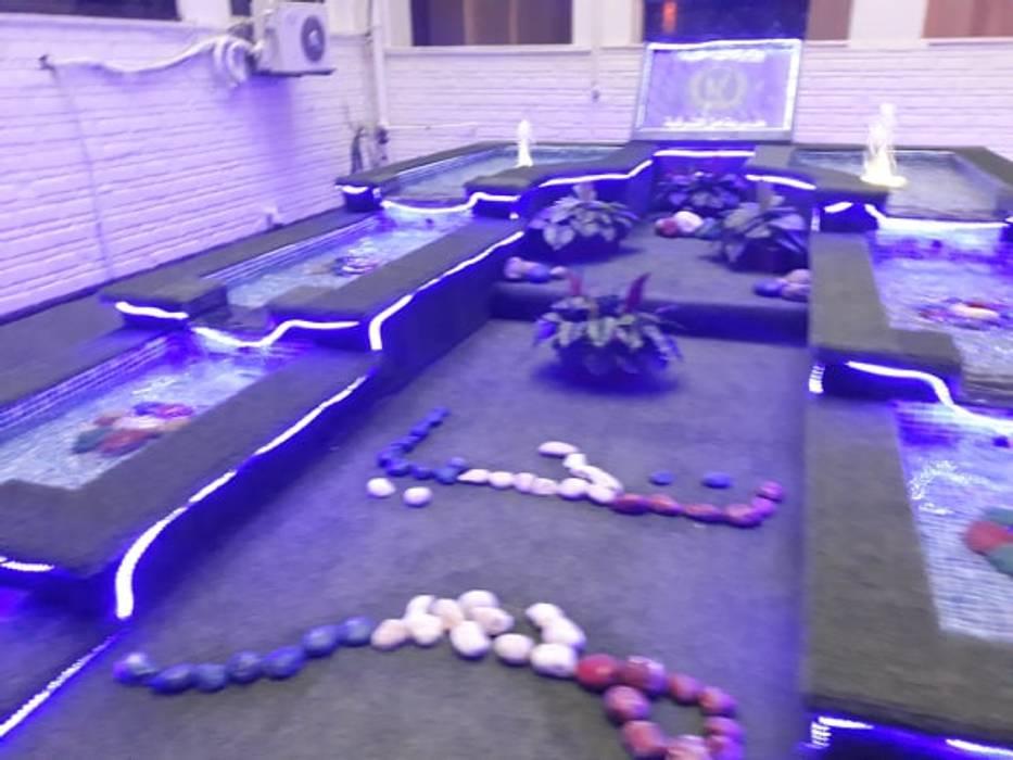 نوافير و شلالات:  حديقة تنفيذ حمامات سباحة ايجي سويم,