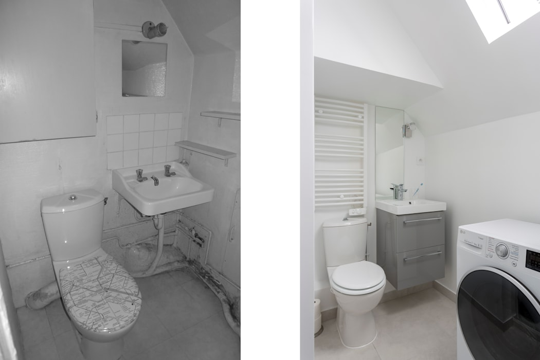Minimalist style bathrooms by Fables de murs Minimalist MDF