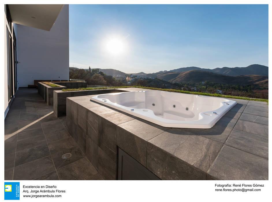 Residencia Chapultepec - Cañadas: Tinas de hidromasaje de estilo  por René Flores Photography, Moderno