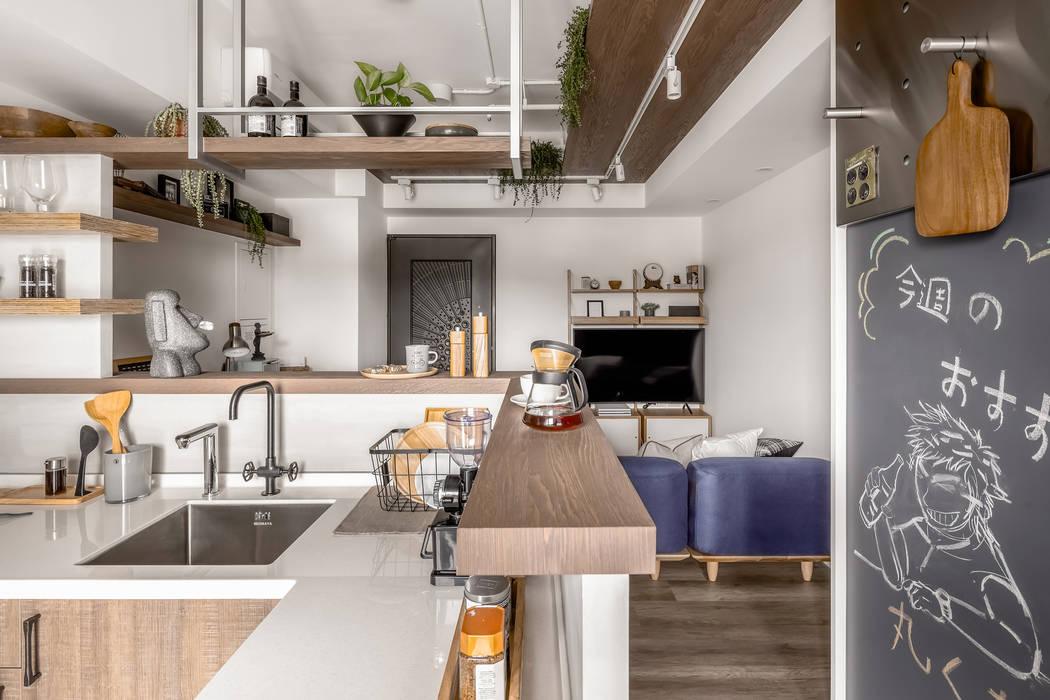 آشپزخانه توسط寓子設計, اسکاندیناویایی