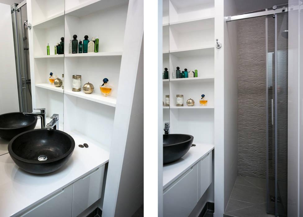 Salle d\'eau avec grande douche et machine à laver dans 2m2: salle de ...