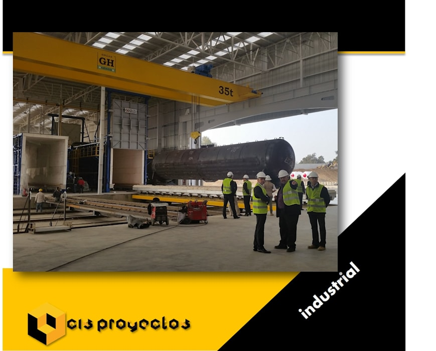 Lean-to roof by CIS PROYECTOS, Industrial Aluminium/Zinc