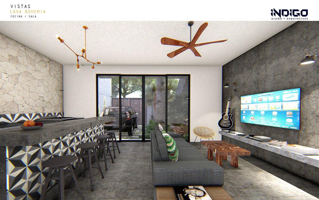 Kleine Küche von Indigo Diseño y Arquitectura