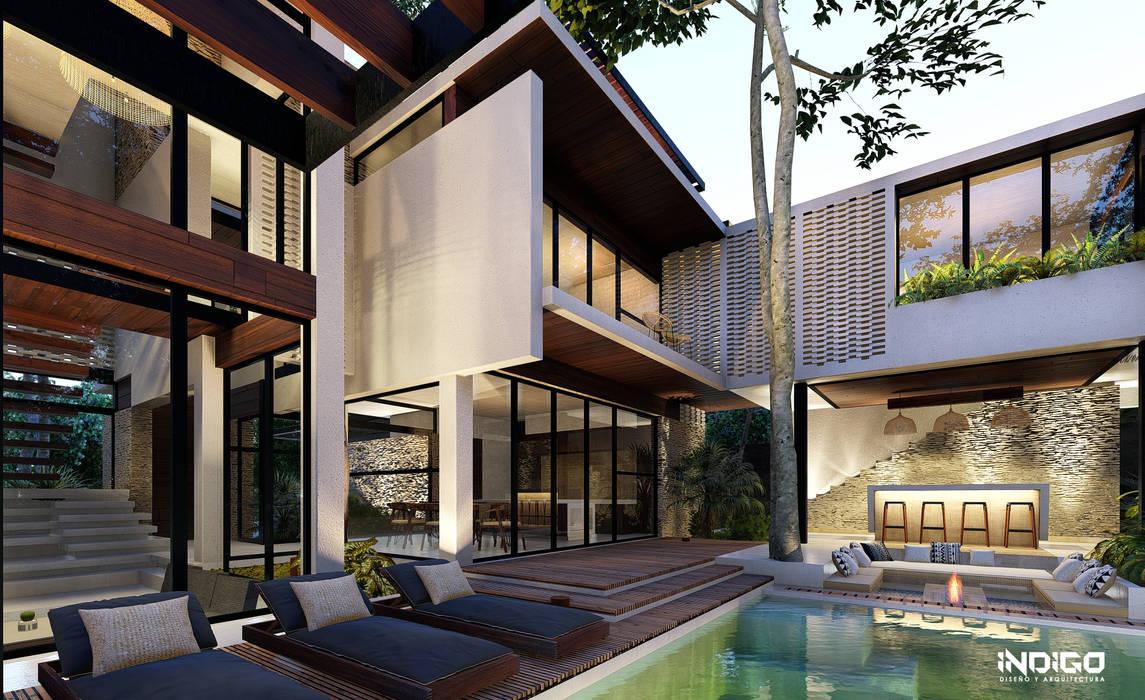 Piscinas infinitas de estilo  por Indigo Diseño y Arquitectura,