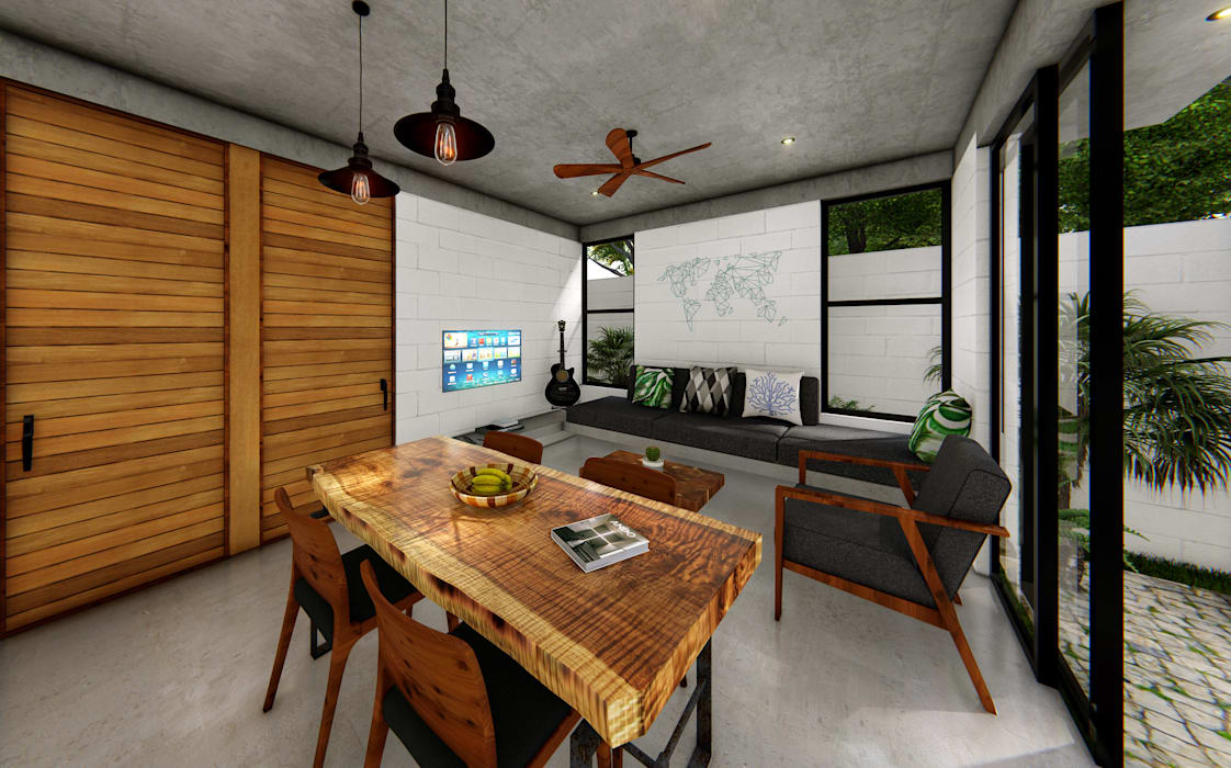 Oleh Indigo Diseño y Arquitectura Tropis Beton