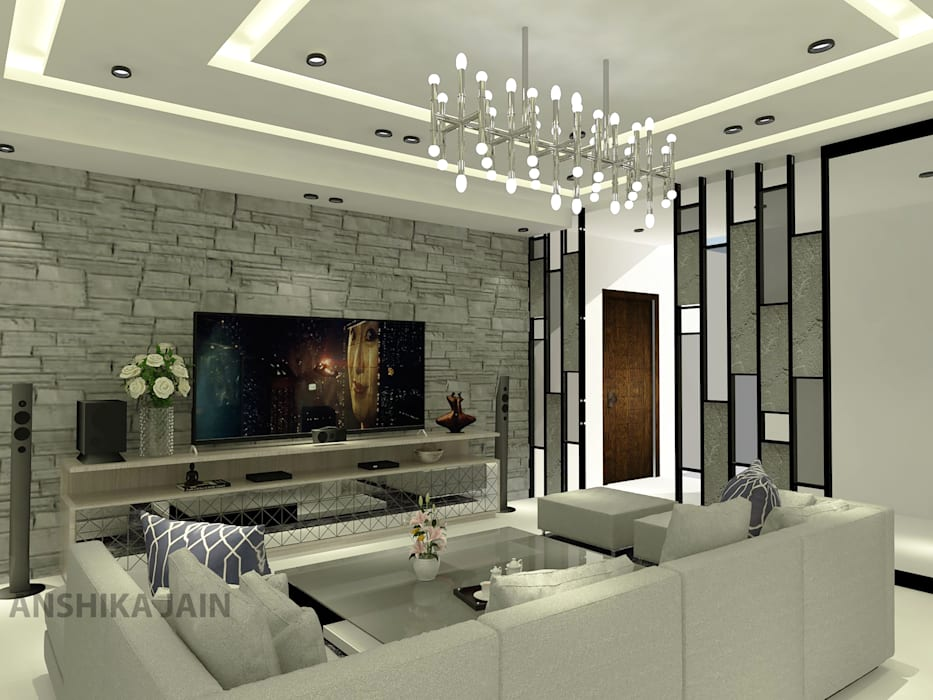 Living Room:  Living room by Inaraa Designs