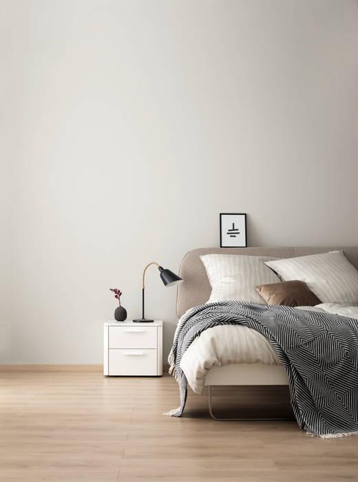 Designfarbe sanftes seidengrau: kleines schlafzimmer von schöner ...