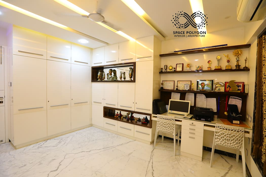 Study/ Office Room Modern Study Room and Home Office by Space Polygon Modern