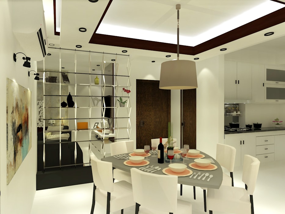 Dining room by Inaraa Designs,