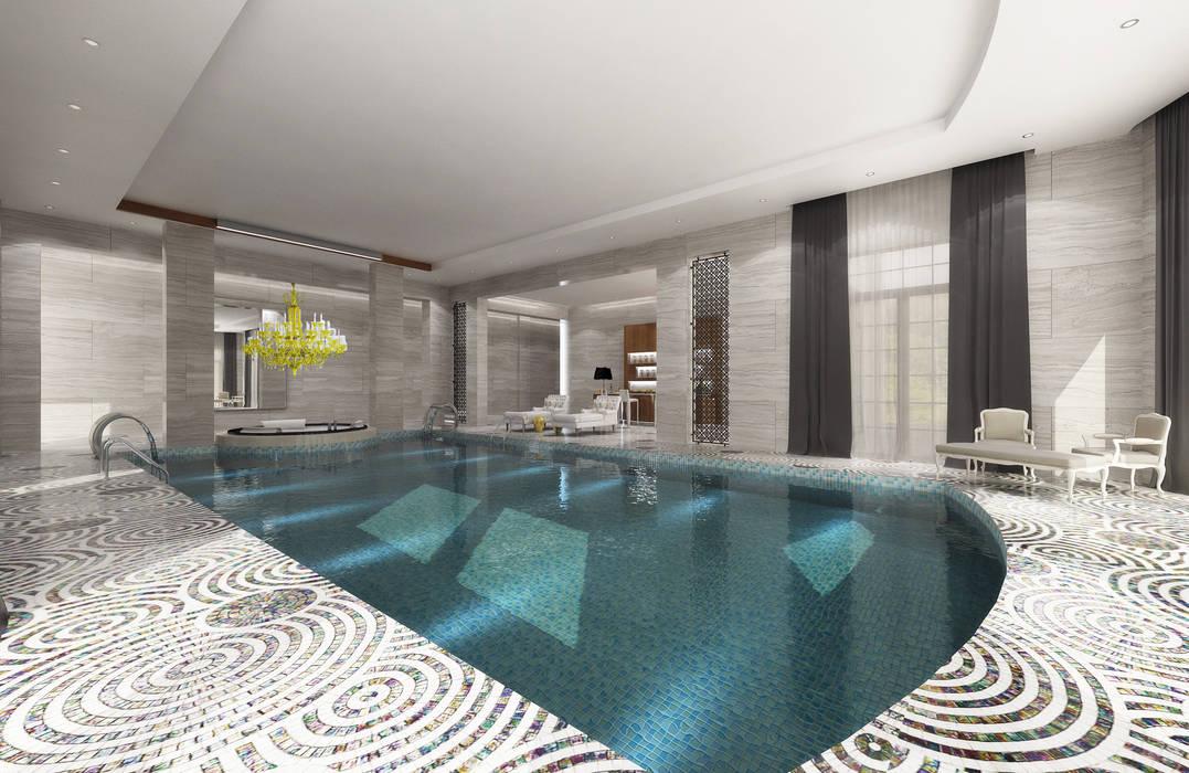 Pool / Private Spa โดย Sia Moore Archıtecture Interıor Desıgn ผสมผสาน เซรามิค
