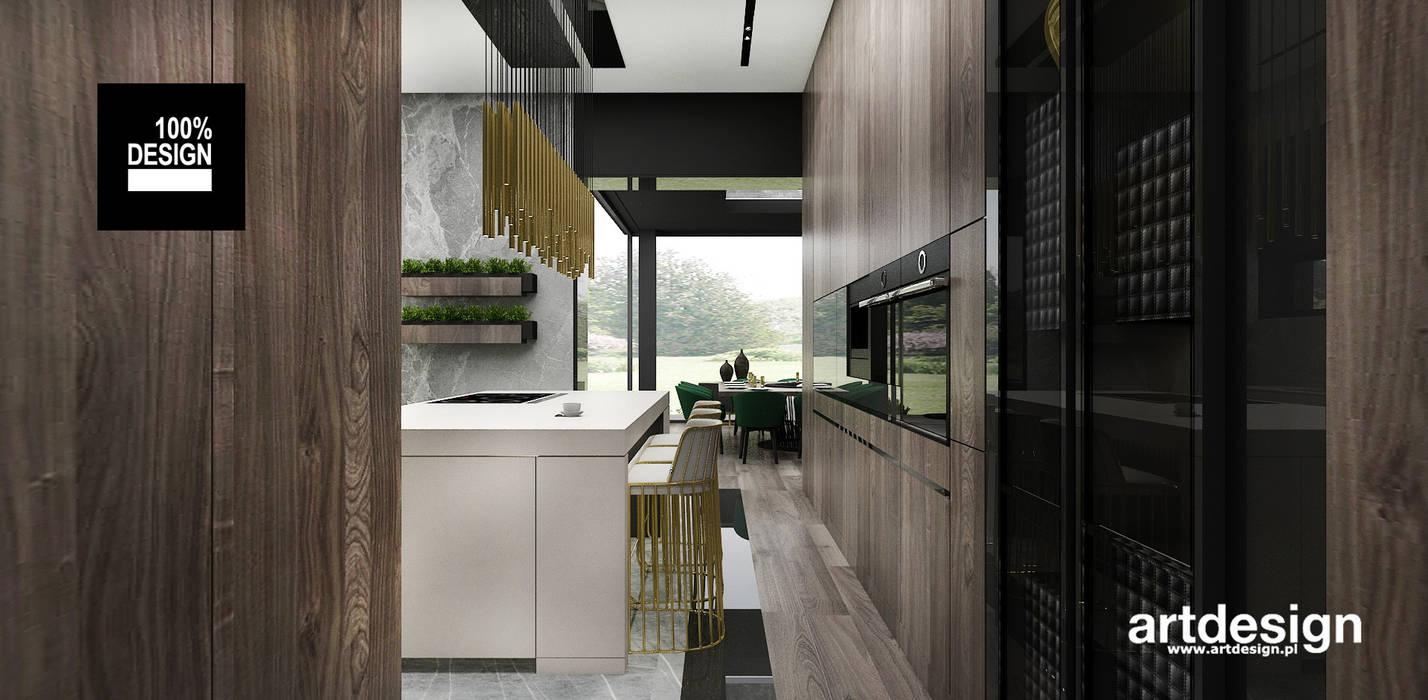 projektowanie wnętrza kuchni Nowoczesna kuchnia od ARTDESIGN architektura wnętrz Nowoczesny