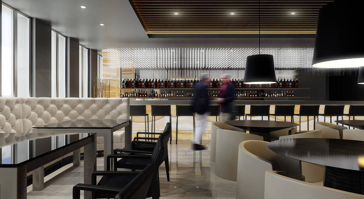 Aeropuertos de estilo  por Elena Demkina Design, Minimalista