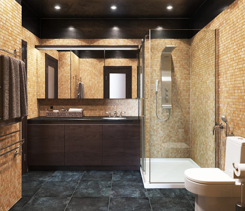 Phòng tắm phong cách thực dân bởi Irina Yakushina Thực dân